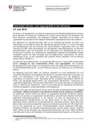 Faktenblatt Â«Kinder- und Jugendpolitik in der Schweiz ... - admin.ch