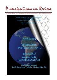 Protestantismo em Revista, volume 09 (Ano 05, n.1) - Faculdades EST