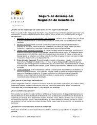 Seguro de desempleo: Negación de beneficios - MFY Legal Services