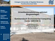 Biogas - Gummersbach Environmental Computing Center
