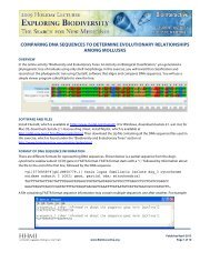 comparing dna sequences to determine evolutionary relationships ...