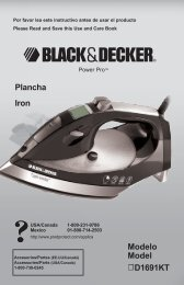Plancha Iron Modelo Model D1691KT - Applica Use and Care ...