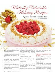 Wickedly Delectable Holiday Recipes