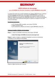 Instruction Utilisage - Bernina