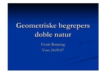 Geometriske begrepers doble natur