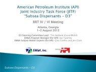 (API) Joint Industry Task Force - U.S. National Response Team (NRT)