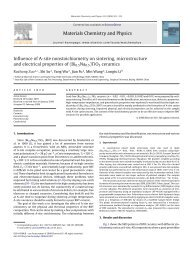 Materials Chemistry and Physics Influence of A-site ...
