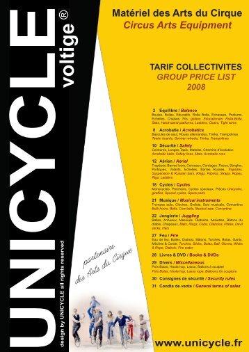 Téléchargez notre catalogue - Unicycle