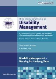IFDM2006 final program.indd - University of Queensland