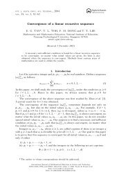 Convergence of a linear recursive sequence - NIE Mathematics ...