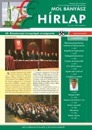 2010. szeptember - Magyar Olaj- és Gázipari Bányász Szakszervezet