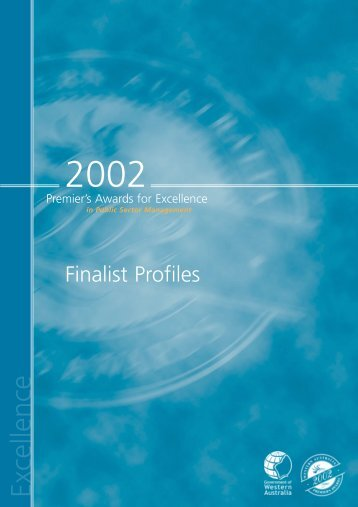 Premier's Awards Profiles 2002 - Public Sector Commission
