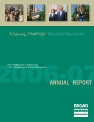 AnnuAl RepoRt - Broad College of Business - Michigan State ...