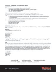 Terms and Conditions for Shandon Products - Thermo Scientific