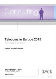 Telecoms in Europe 2015 - La Tele di Penelope