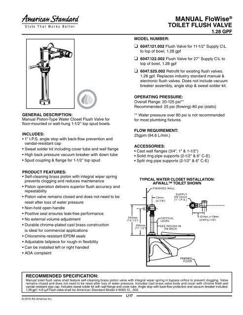 Manual Flowisea Toilet Flush Valve Home Depot