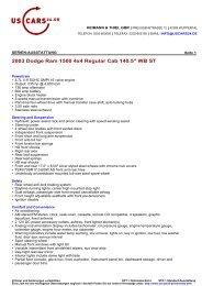 2003 Dodge Ram 1500 4x4 Regular Cab 140.5