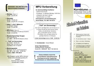 MPU-Vorbereitung - Kornblume eV