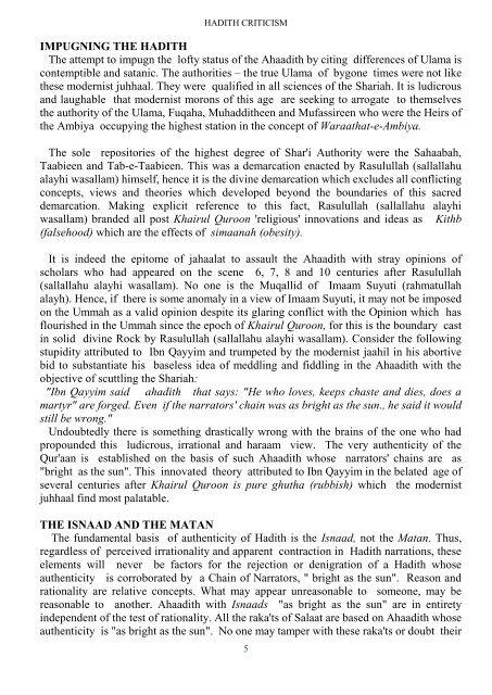 HADITH CRITICISM E_Booklet