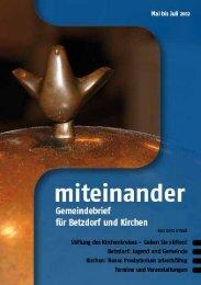 gottesdienst - Evangelische Kirchengemeinde Betzdorf