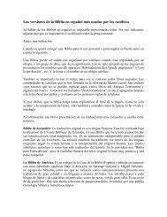 Las versiones de la Biblia en español más usadas por los católicos