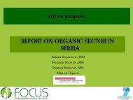 REPORT ON ORGANIC SECTOR IN SERBIA - Focus-Balkans