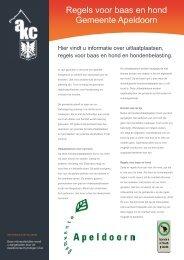 Regels voor baas en hond Gemeente Apeldoorn - AKC