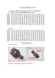 Convert from Big to small 1- read mcu 05E6 from big key and save it ...