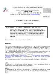 Determina n. 12 - Regione Campania
