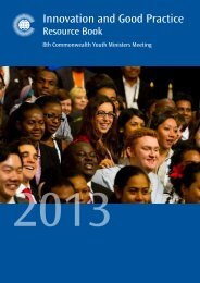 Download the booklet - Commonwealth Youth Development Index