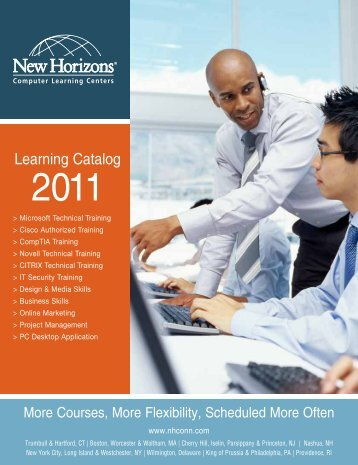 Learning Catalog 2011 - New Horizons