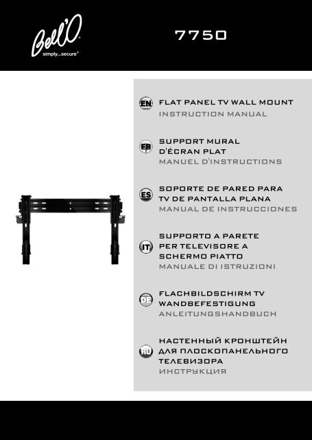 flat panel tv wall mount instruction manual support mural d ... - Bell'O