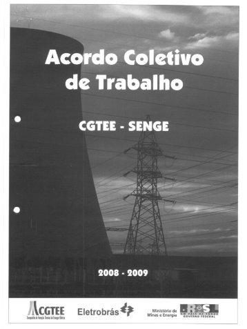 2008 - 2009 Acordo Coletivo CGTEE-SENGE