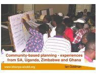Community-based planning - The South African LED Network