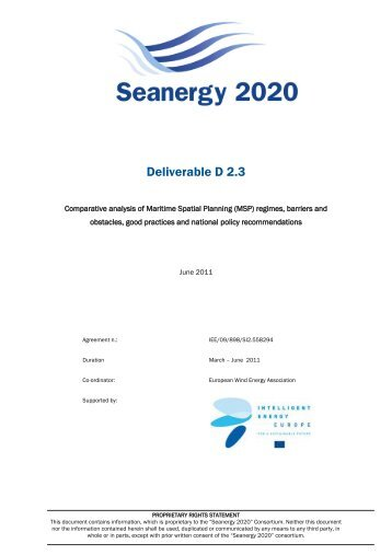 Comparative analysis of Maritime Spatial Planning ... - Seanergy 2020