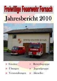 Jahresbericht der FF 2010