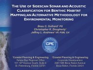 the use of sidescan sonar and acoustic classification for ... - fsbpa