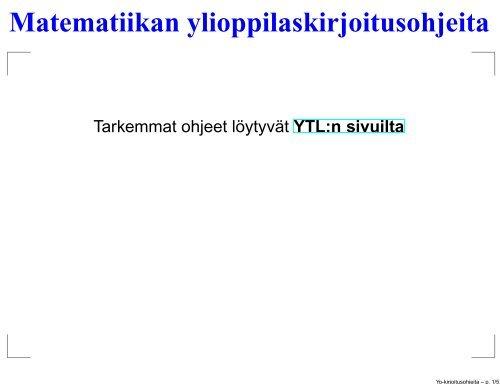 Käytännön ohjeita (PDF-slide) - Lahti
