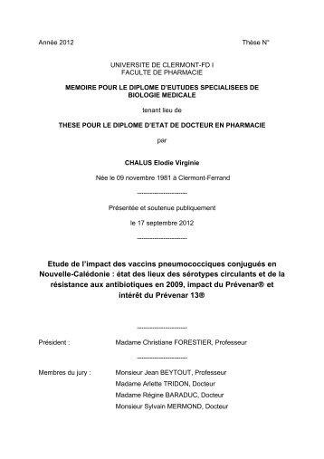 etude de l'impact des vaccins penumococciques conjugués en ...