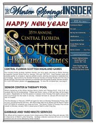 Monthly Newsletter - January 2012 - City of Winter Springs