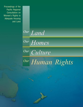 Women's Rights to Adequate Housing and Land - Office of the High ...