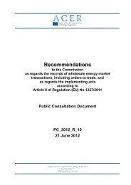 Public Consultation Document - ACER - Europa