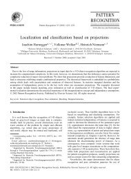 Localization and classification based on projections