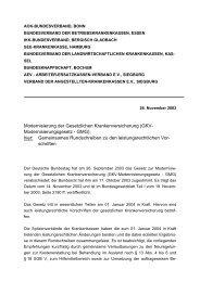 Modernisierung der Gesetzlichen Krankenversicherung (GKV ...
