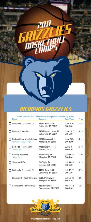 MEMPHIS GRIZZLIES - The National Basketball Academy