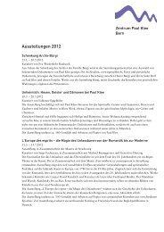 Ausstellungen 2012 - Zentrum Paul Klee
