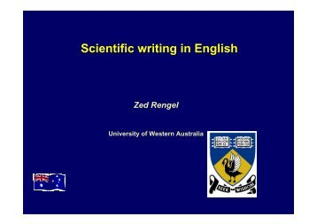 Scientific writing in English