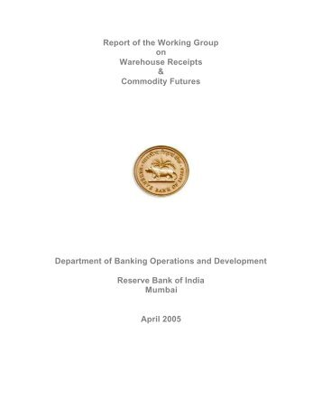 Report of the Working Group on Offshore Financial Centres