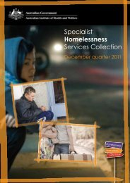 Specialist Homelessness Services Collection - Australian Institute of ...