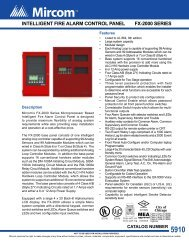 FX-2000 Series Intelligent Fire Alarm Control Panel - Mircom